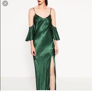 Zara off the shoulder maxi dress
